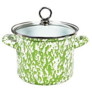 Reston Lloyd Calypso Basics Lime 1.5-quart Marble Stock Pot with Glass Lid