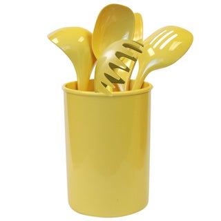 Reston Lloyd Calypso Basics Lemon Utensil Holder and 5-piece tool Set