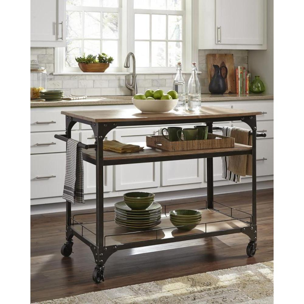 Shop Simple Living Rolling Galvin Microwave Cart: Free Shipping On Orders Over