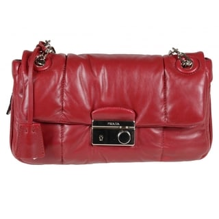 Prada B5023L Bomber Effect Shoulder Bag
