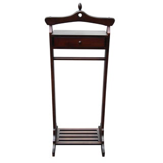 Handmade D-Art Mahogany Wood Royal Valet Coat Rack (Indonesia)