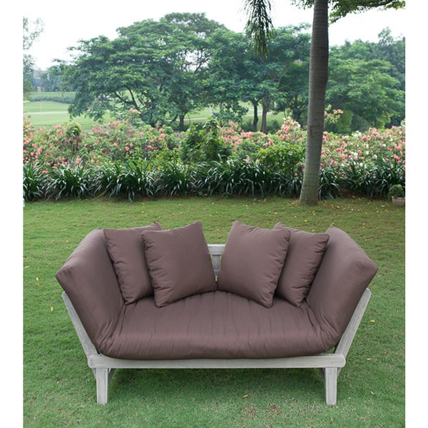 Cambridge Casual West Lake Convertible Sofa Daybed - Cappuccino Brown