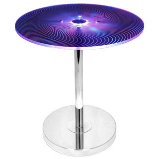 Modern Spyra Light Up Color Changing End Table