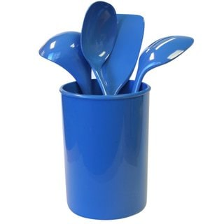 Reston Lloyd 5-piece Calypso Basics Azure Utensil Holder Set