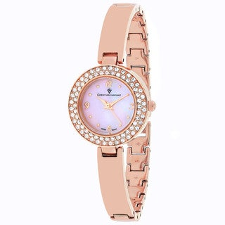 Christian Van Sant Women's CV8614 Palisades Round Rose-tone Stainless Steel Bracelet Watch