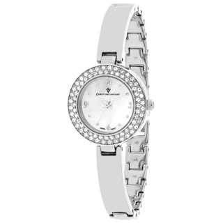 Christian Van Sant Women's CV8610 Palisades Round Silver-tone Stainless Steel Bracelet Watch