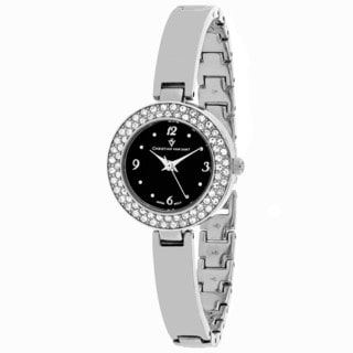 Christian Van Sant Women's CV8612 Palisades Round Silver-tone Stainless Steel Bracelet Watch