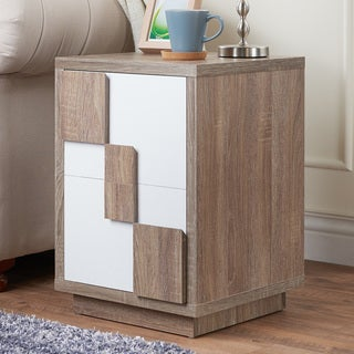 Furniture of America Darla Modern Two-Tone 2-drawer End Table