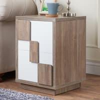 Furniture of America Darla Modern Two-Tone 2-drawer End Table