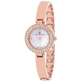Christian Van Sant Women's CV8613 Palisades Round Rose-tone Stainless Steel Bracelet Watch