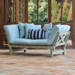 Cambridge Casual West Lake Spruce Blue Convertible Outdoor Sofa Daybed|https://ak1.ostkcdn.com/images/products/11552176/P18496506.jpg?impolicy=medium