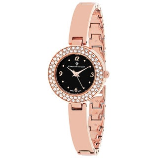 Christian Van Sant Women's CV8615 Palisades Round Rose-tone Stainless Steel Bracelet Watch