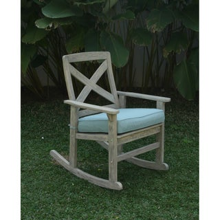 Cambridge Casual West Lake Rocking Chair with Blue Seat Cushion