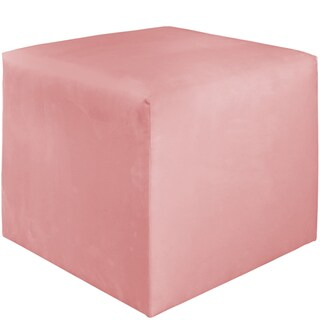 Skyline Furniture Kids Cube Ottoman in Premier Light Pink