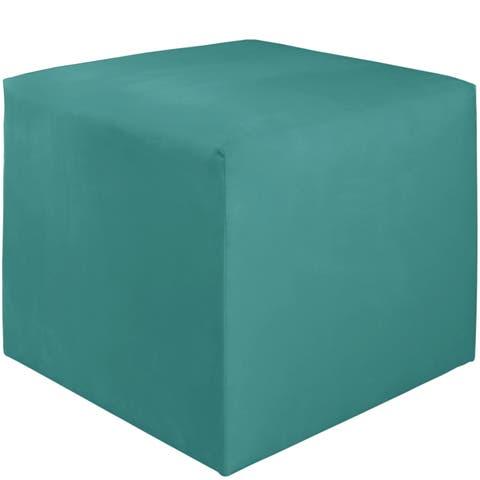 Skyline Furniture Kids Cube Ottoman in Premier Azure