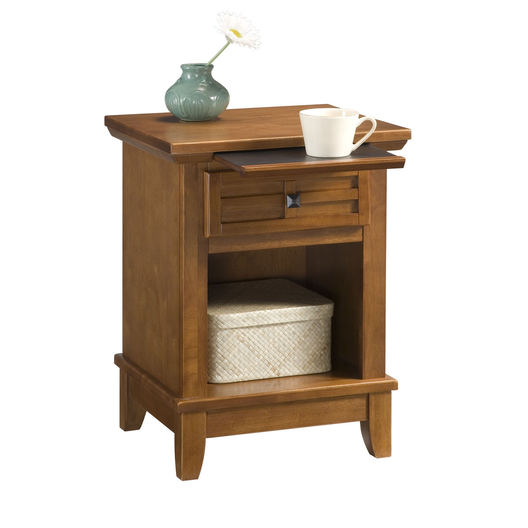 Arts And Crafts Cottage Oak Night Stand By Home Styles Overstock 11552199