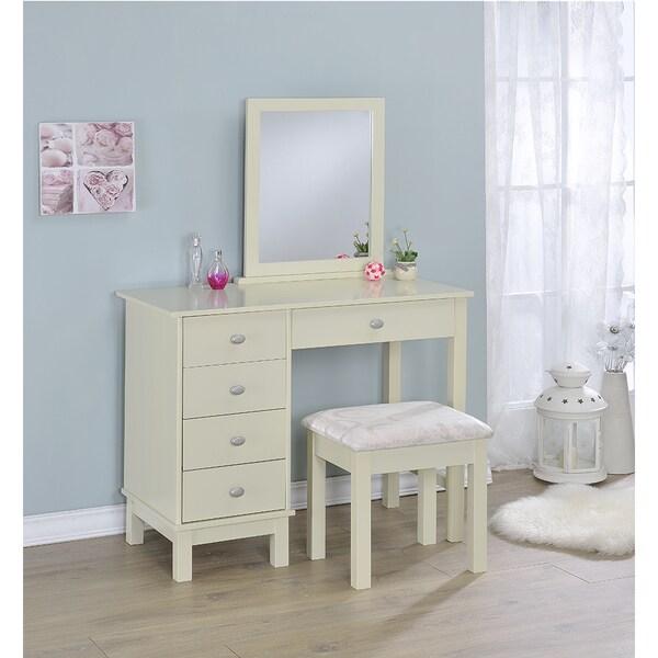 Sierra White Three Piece Vanity With Mirror Free