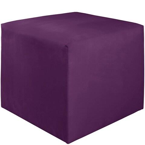 Skyline Furniture Kids Cube Ottoman in Premier Hot Purple