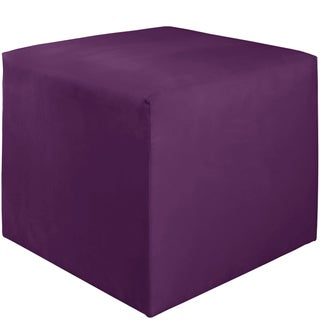 Skyline Furniture Kids Cube Ottoman in Premier Hot Purple