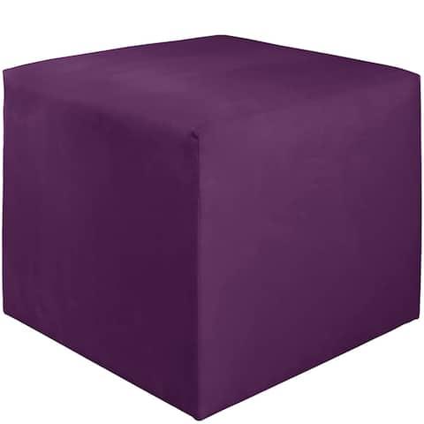 "Skyline Furniture Kids Cube Ottoman in Premier Hot Purple - 21""W X 21""D X 19""H"