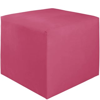 Skyline Furniture Kids Cube Ottoman in Premier Hot Pink