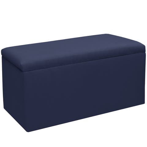 Skyline Furniture Kids Storage Bench in Duck Navy - N/A