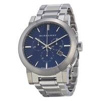 Burberry Men's  'Large Check' Chronograph Stainless Steel Watch