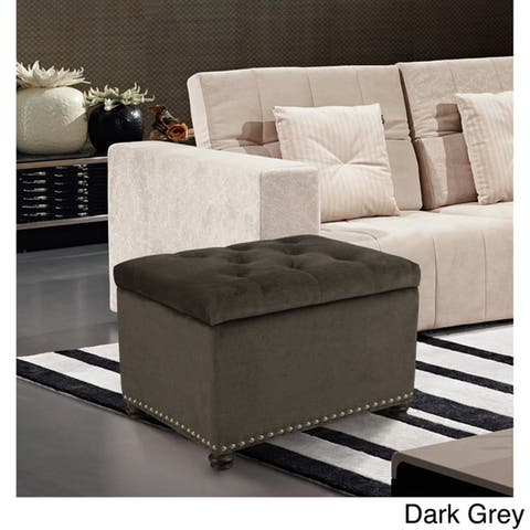 Adeco High End Classy Tufted Storage Bench Ottoman Footstool