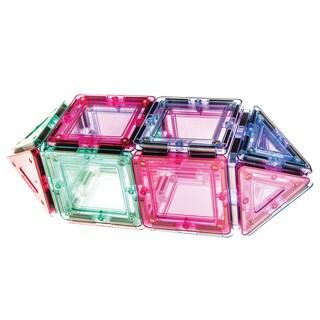 MagWorld Toys Pastel 20-piece 3D Magnetic Building Tiles