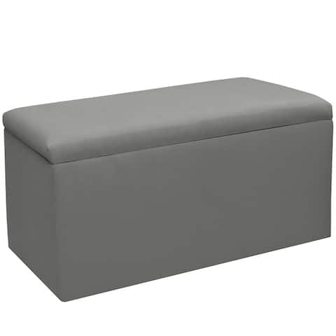 Skyline Furniture Kids Storage Bench in Duck Grey - N/A