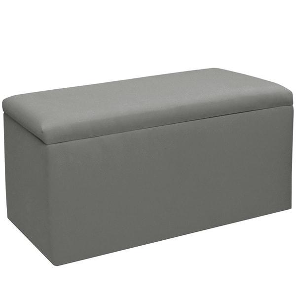 Skyline Furniture Kids Storage Bench in Duck Grey