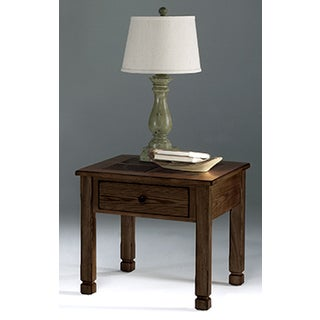 Rustic Ridge II Square Lamp Table