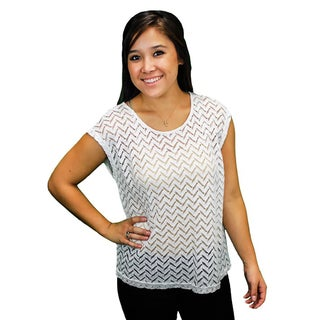 Relished Women's Chevron Knit Top