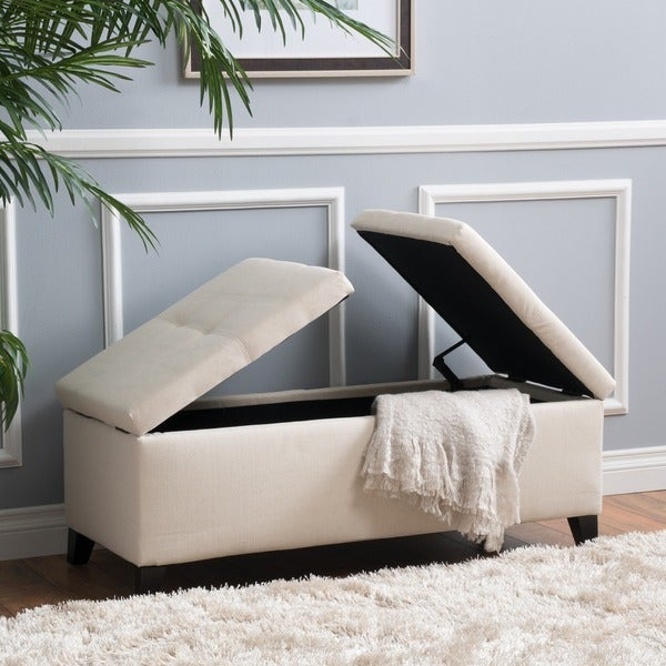 Kosas Home Fabric Storage Bedroom Bench Reviews: Shop Alfred Fabric Small Storage Ottoman Bench By