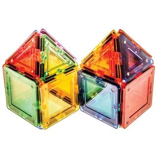 MagWorld Toys Rainbow 20-piece 3D Magnetic Building Tiles
