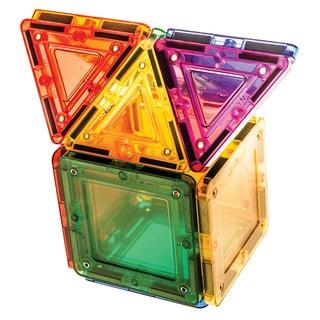 MagWorld Toys Rainbow 14-piece 3D Magnetic Building Tiles