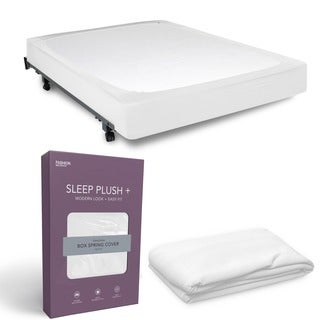 Sleep Plush StyleWrap White Fabric Box Spring Cover