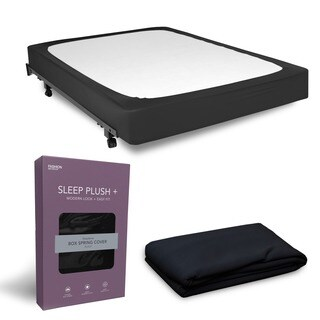 Sleep Plush StyleWrap Black Fabric Box Spring Cover