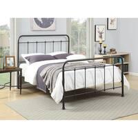 Industrial Metal Queen-size Platform Bed