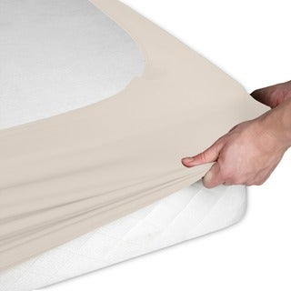 Sleep Plush StyleWrap Ivory Fabric Box Spring Cover