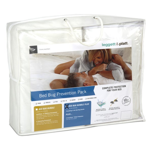 Fashion Bed Group Bed Bug Prevention Pack + (Plus) with InvisiCase Pillow Protector and 9-inch Bed Encasement Bundle - White