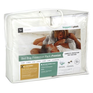 Fashion Bed Group Premium Bed Bug Prevention Pack with InvisiCase Easy Zip Mattress and Box Spring Encasement Bundle - White