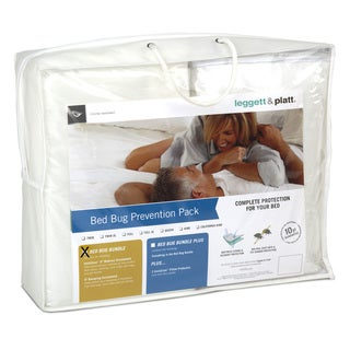Fashion Bed Group Bed Bug Prevention Pack with InvisiCase 9-Inch Mattress and Box Spring Encasement Bundle - White