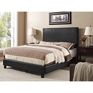Picket House Jana Faux Black Leather Queen Bed