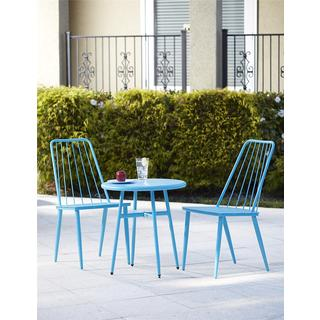 Avenue Greene 3-piece Blue Outdoor Bistro Steel Patio Furniture Set
