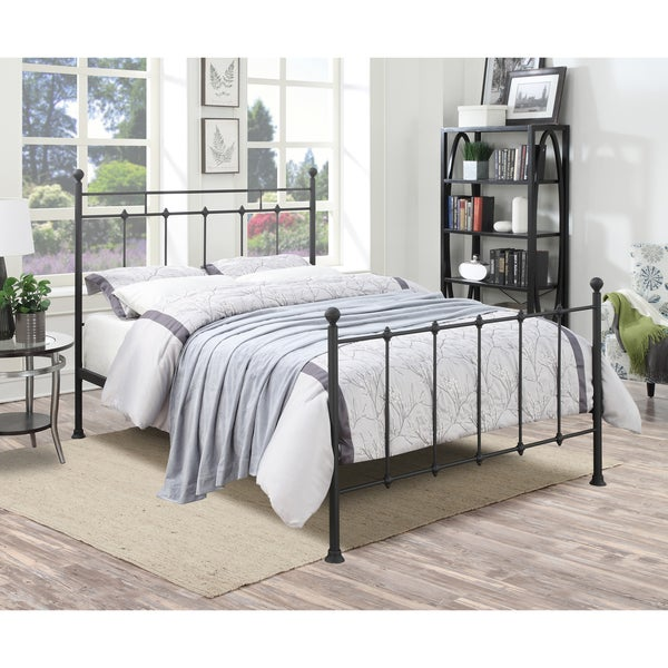 Shop Black Metal Queen Size Bed On Sale Free Shipping