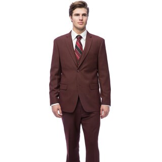 Caravelli Men's Burgundy Slim Fit Vested Suit (More options available)