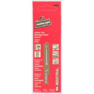 "Vermont American 30002 2¾"" 24 TPI Carbide Tipped U-Shank AP Jig Saw Blades"