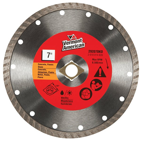 Vermont American 29207dko 7 Quot Diamond Blade Free Shipping