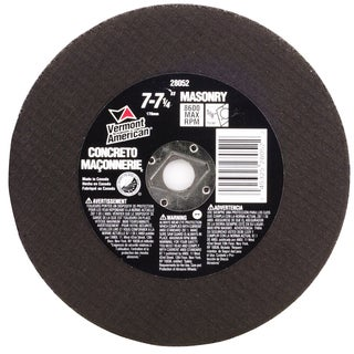 "Vermont American 28052 7"" To 7-1/4"" Abrasive Wheel For Cutting Masonry & Concrete"